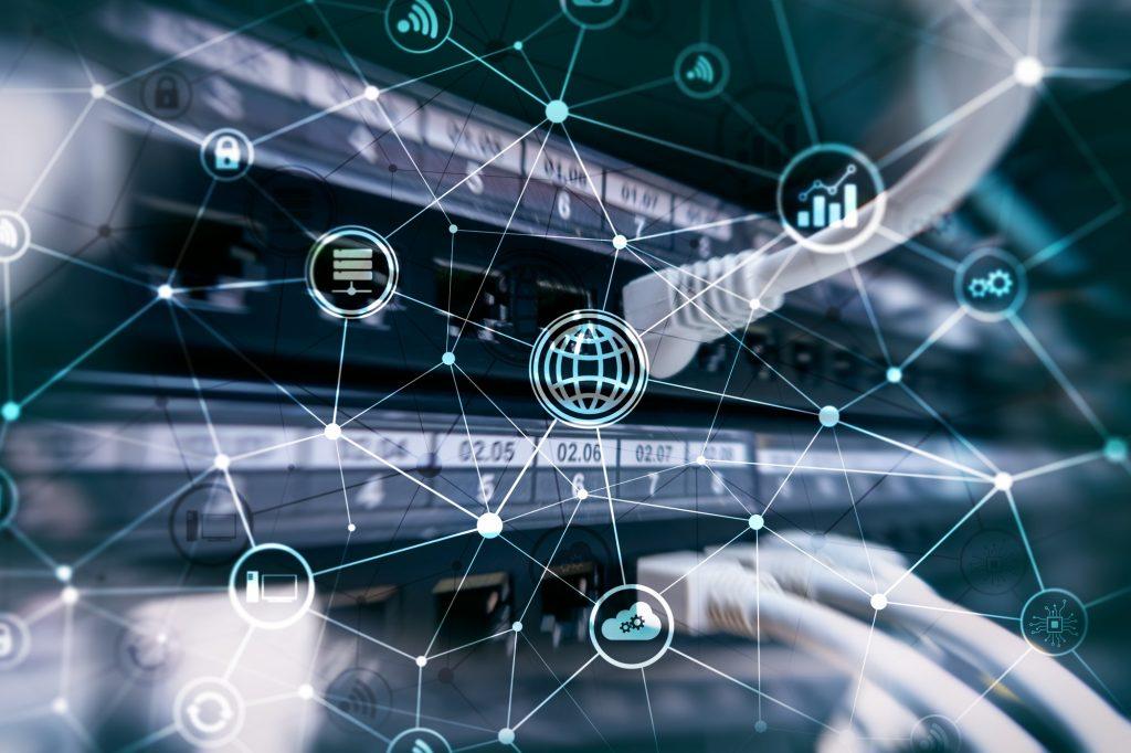 ICT iconen op een server