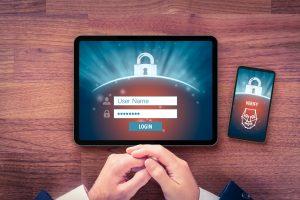 Tablet en smartphone om toegang te krijgen tot je account